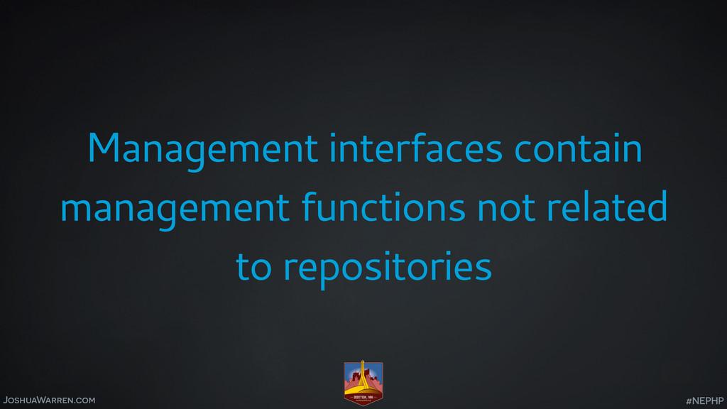 JoshuaWarren.com Management interfaces contain ...
