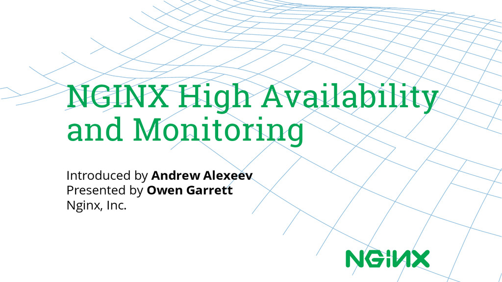 NGINX High Availability and Monitoring Introduc...