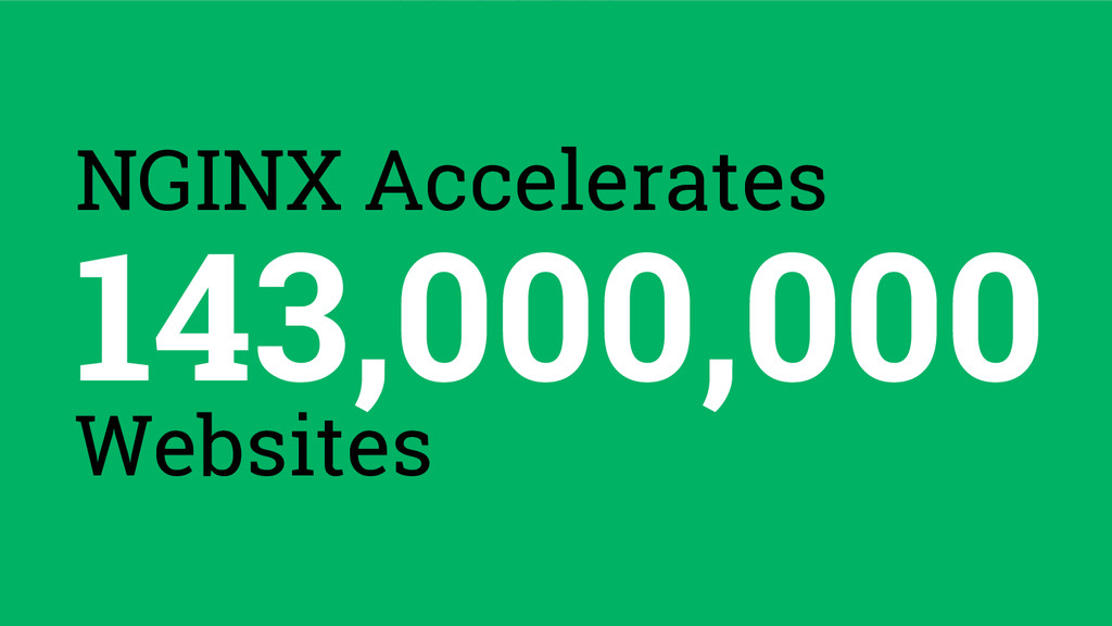 143,000,000 Websites NGINX Accelerates