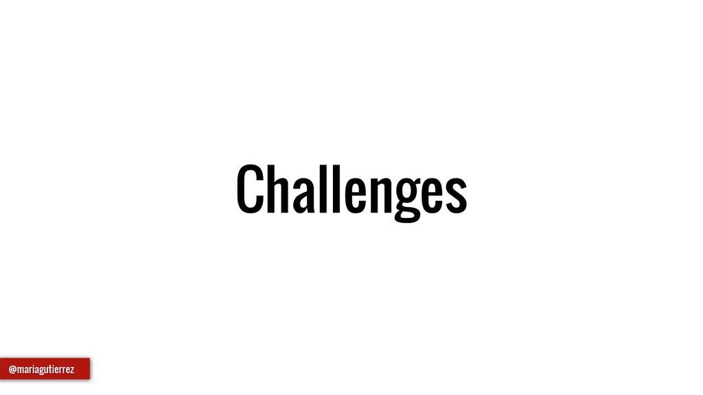 Challenges @mariagutierrez
