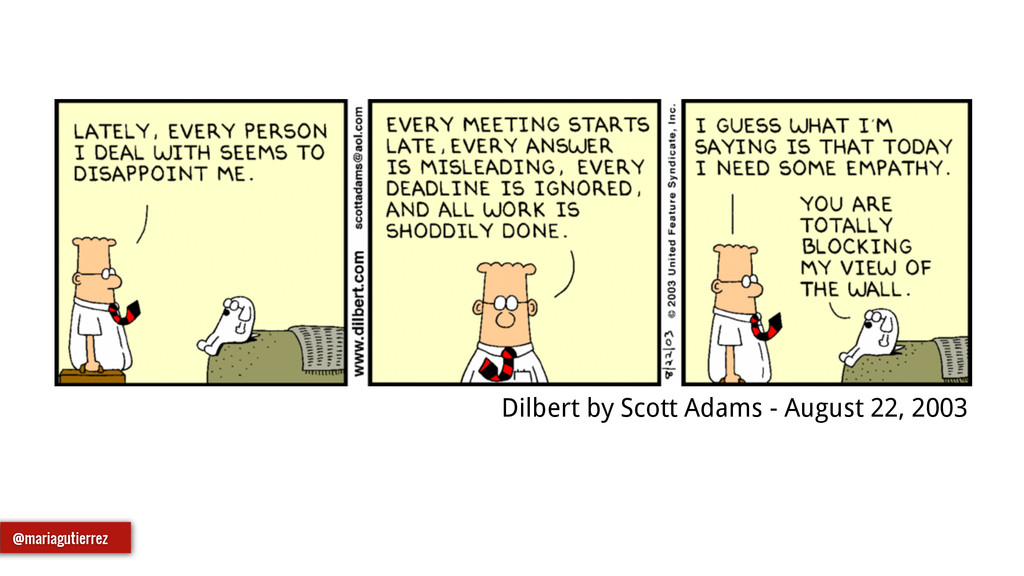Dilbert by Scott Adams - August 22, 2003 @maria...