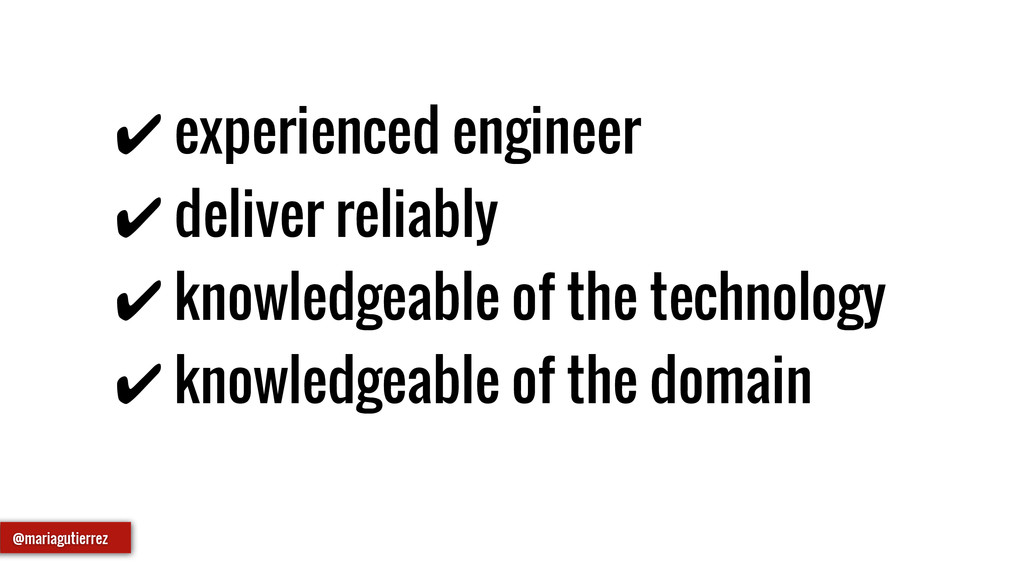 ✔ experienced engineer ✔ deliver reliably ✔ kno...