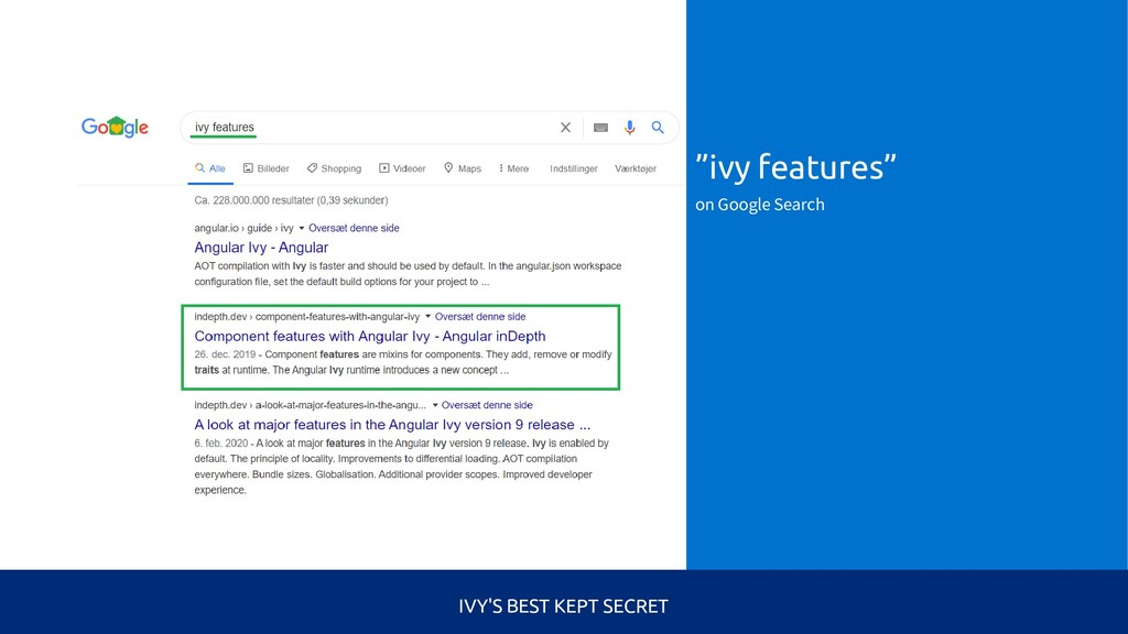 """""""ivy features"""" on Google Search IVY'S BEST KEPT..."""