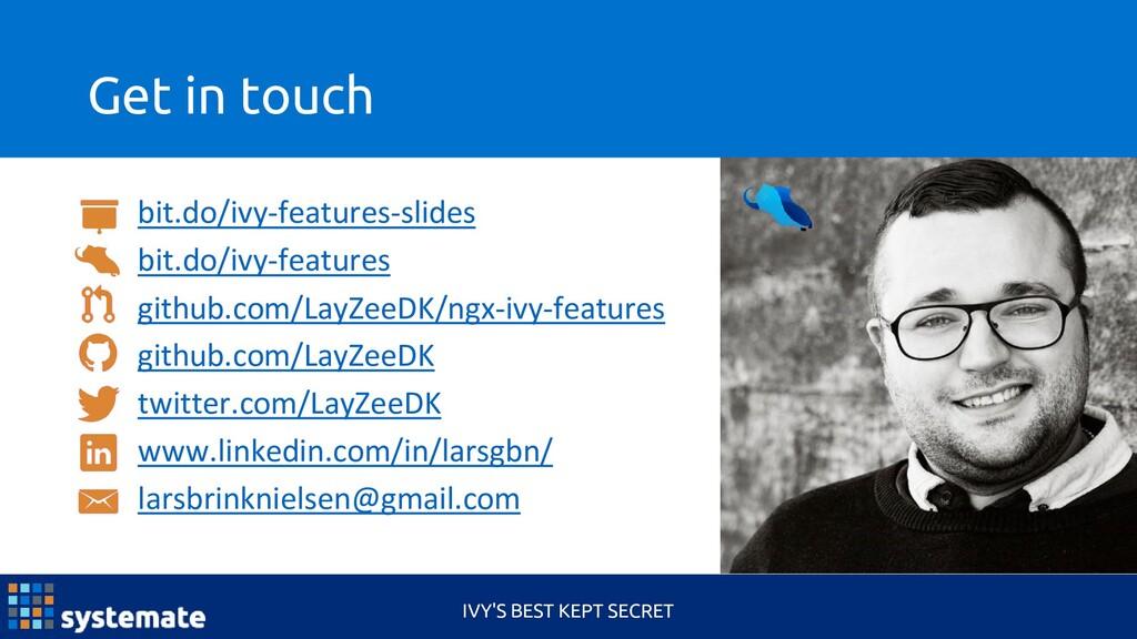 Get in touch IVY'S BEST KEPT SECRET bit.do/ivy-...