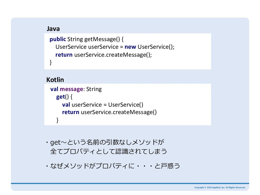 public String getMessage() { UserService userSe...