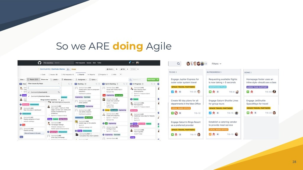 So we ARE doing Agile 28