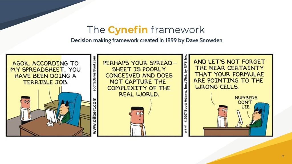 The Cynefin framework 9 Decision making framewor...