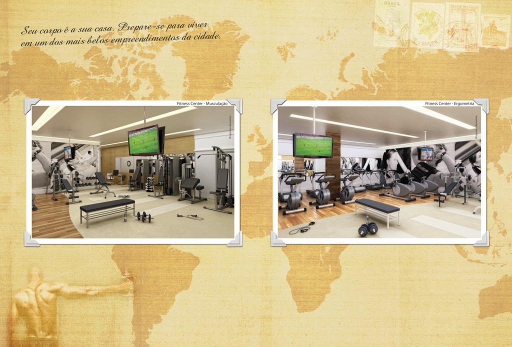 Fitness Center - Ergometria Perspectiva ilustra...