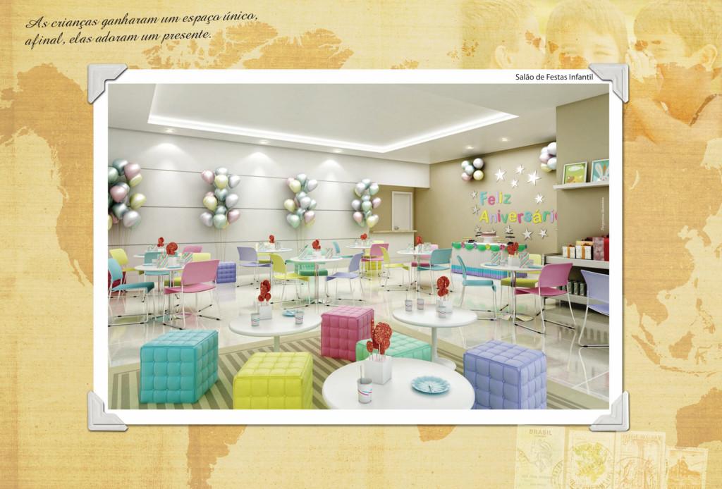 Salão de Festas Infantil Perspectiva ilustrativ...