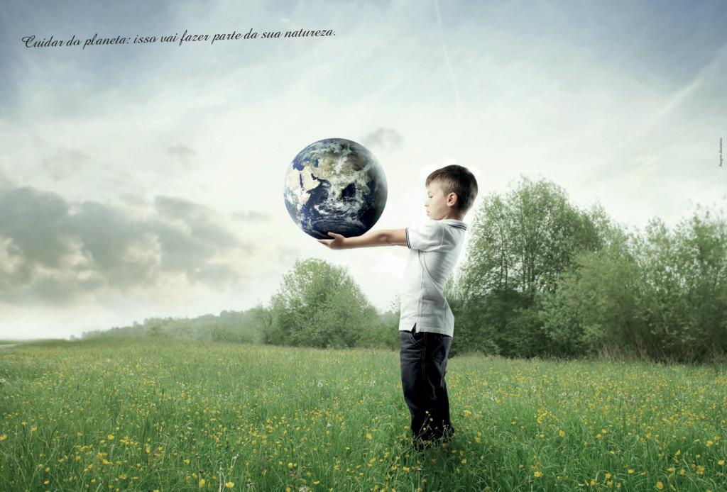Imagem ilustrativa. Cuidar do planeta: isso vai...