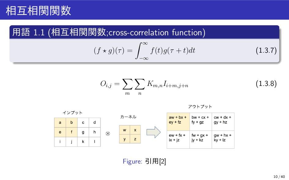 相互相関関数 用語 1.1 (相互相関関数;cross-correlation functio...