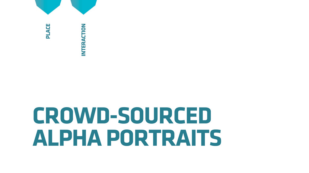 CROWD-SOURCED ALPHA PORTRAITS INTERACTION PLACE