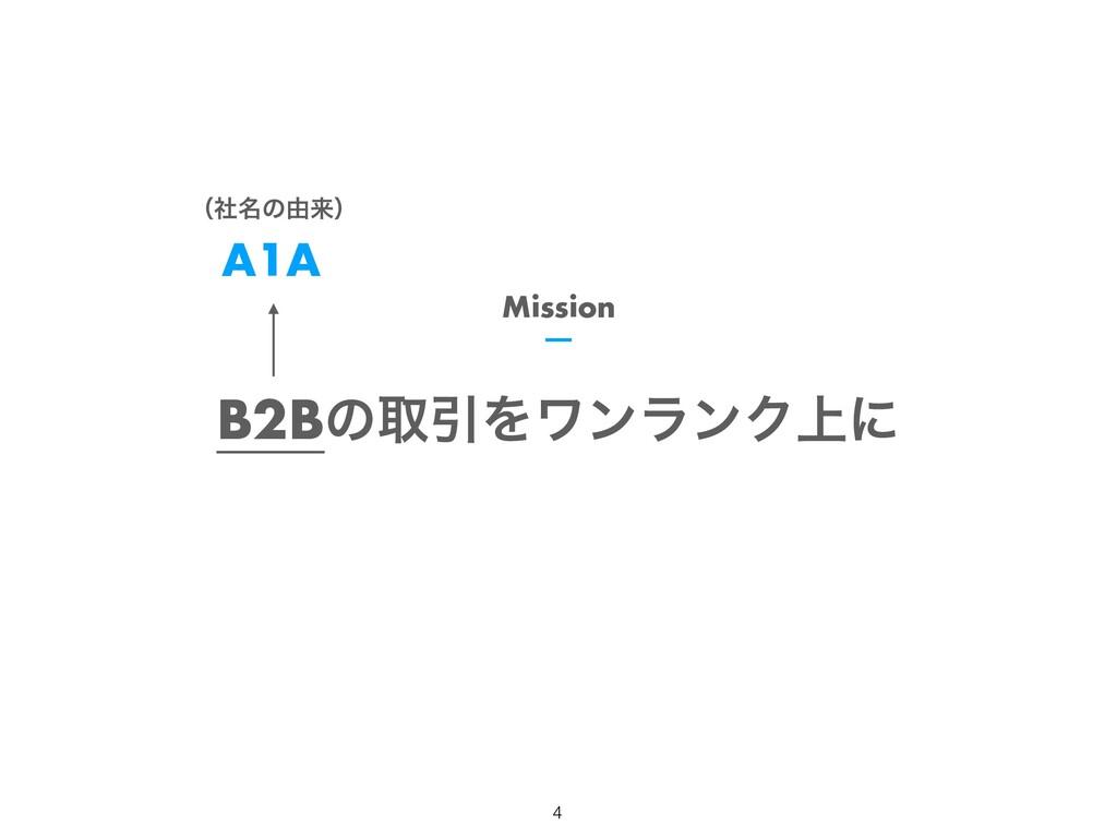 B2BͷऔҾΛϫϯϥϯΫ্ʹ Mission !4 A1A ʢ໊ࣾͷ༝དྷʣ
