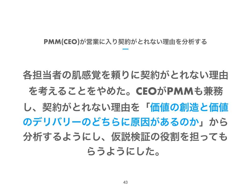 PMM(CEO)͕ӦۀʹೖΓܖ͕ͱΕͳ͍ཧ༝Λੳ͢Δ !43 ֤୲ऀͷഽײ֮ΛཔΓʹܖ...