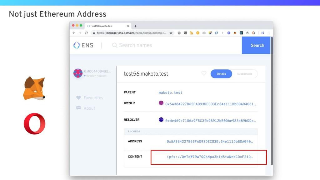 Not just Ethereum Address
