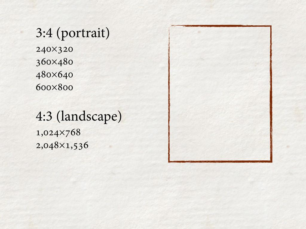 3:4 (portrait) × × × × ...