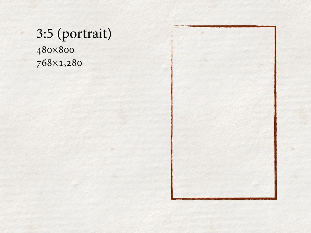3:5 (portrait) × ×,