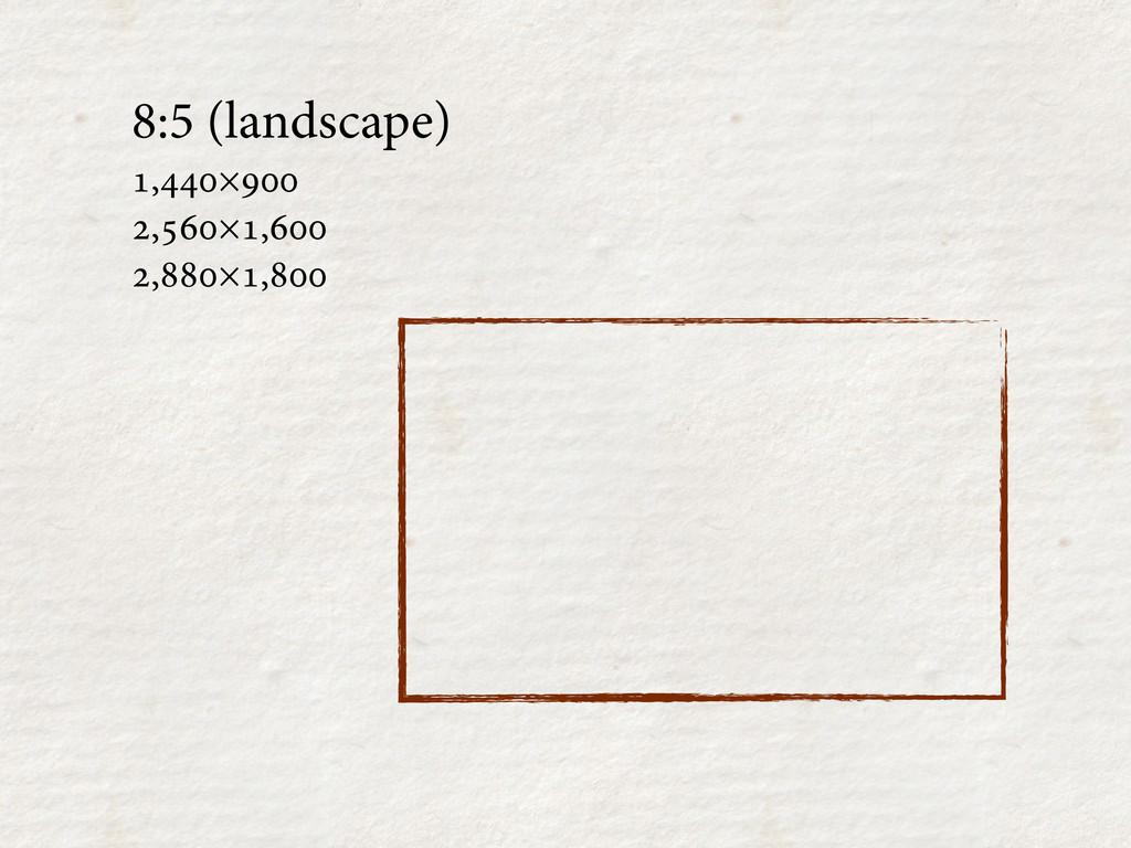 8:5 (landscape) ,× ,×, ,×,...