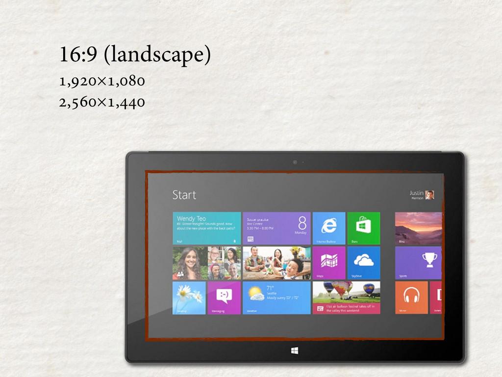 16:9 (landscape) ,×, ,×,