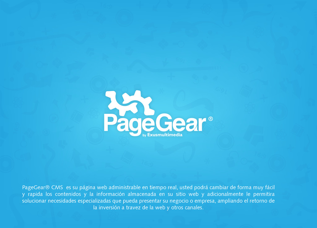 by Exusmultimedia PageGear® CMS es su página we...