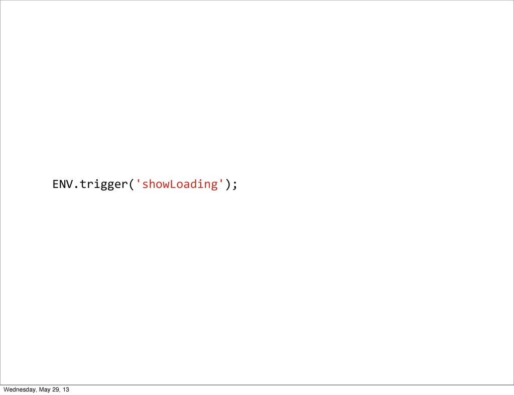 ENV.trigger('showLoading'); Wednesday, May 29, ...