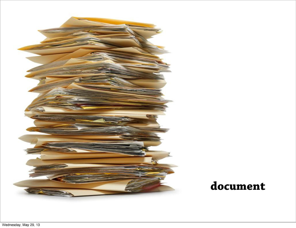 document Wednesday, May 29, 13