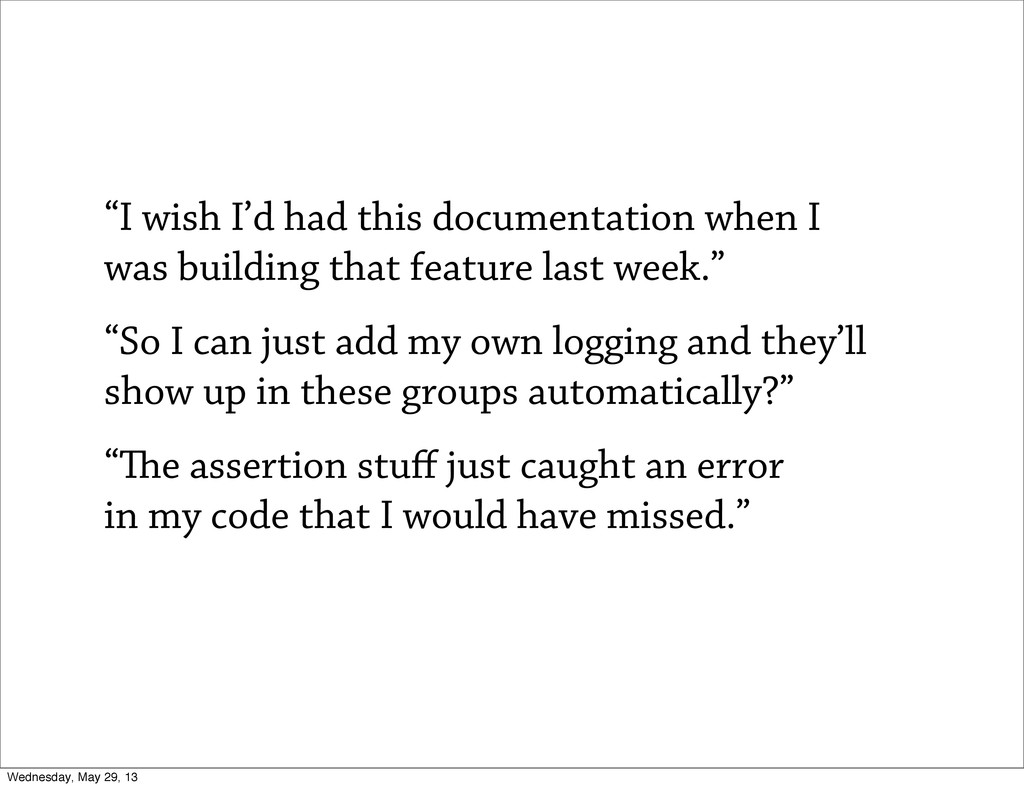 """I wish I'd had this documentation when I was b..."