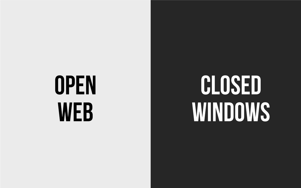 Web Windows Open Closed