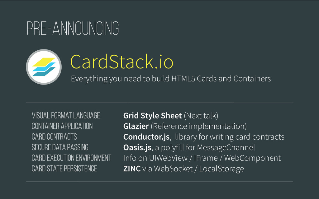 CardStack.io Visual Format Language Container A...