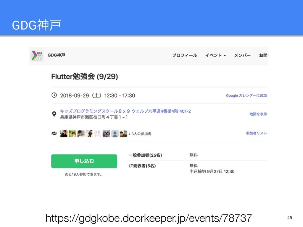 45 GDGਆށ https://gdgkobe.doorkeeper.jp/events/7...