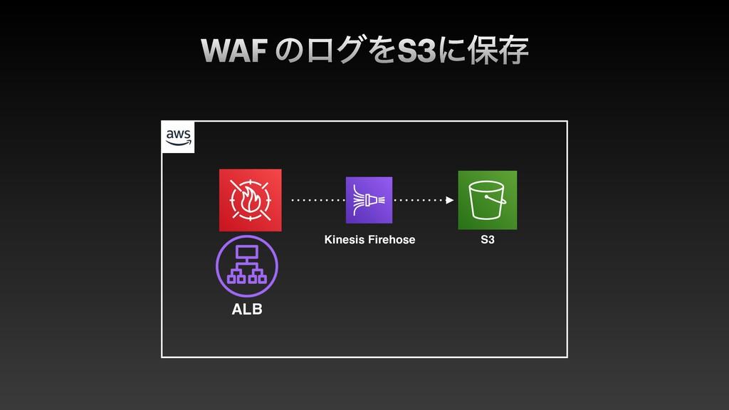 WAF ͷϩάΛS3ʹอଘ ALB Kinesis Firehose S3