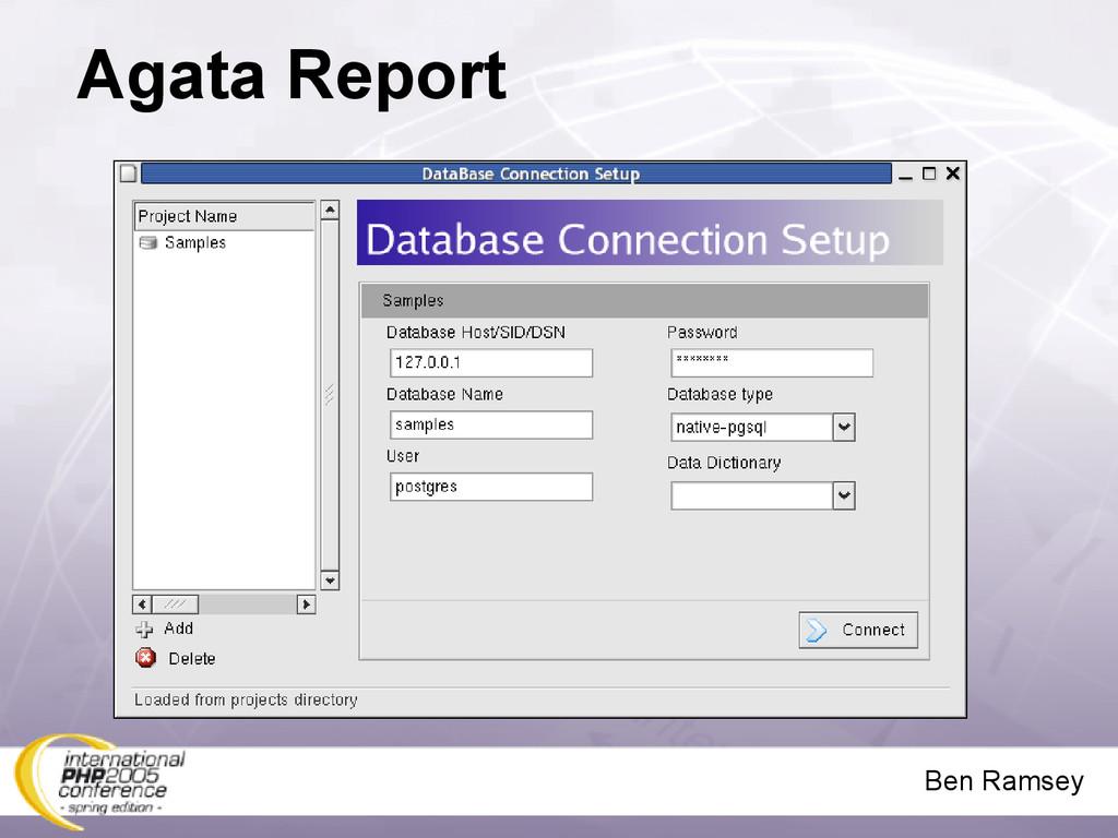 Ben Ramsey Agata Report