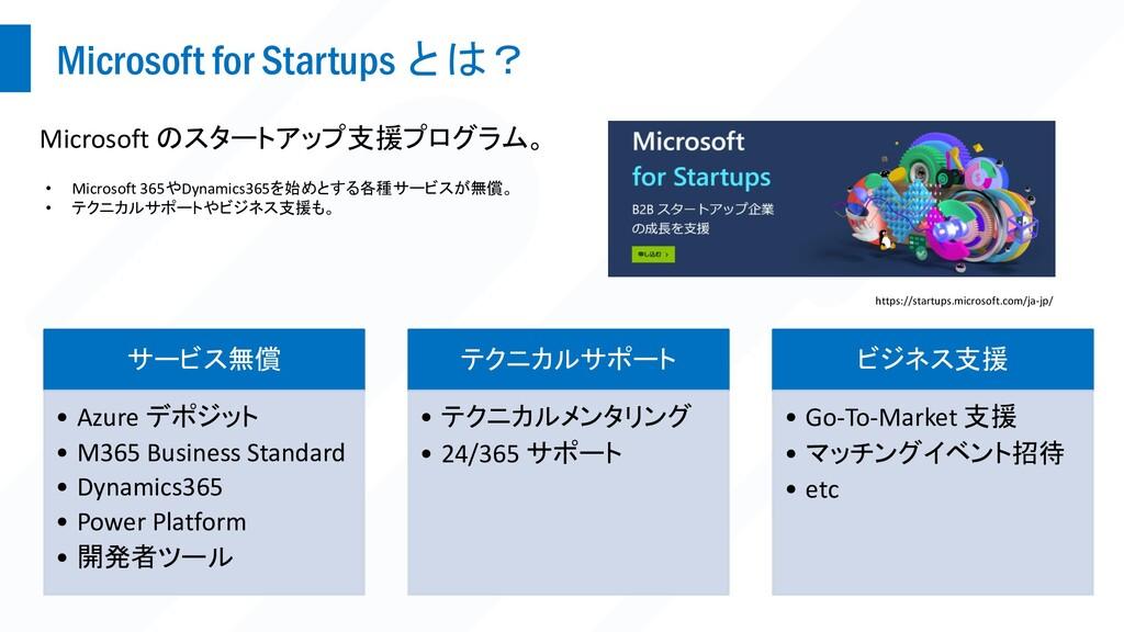 Microsoft for Startups とは? Microsoft のスタートアップ支援...