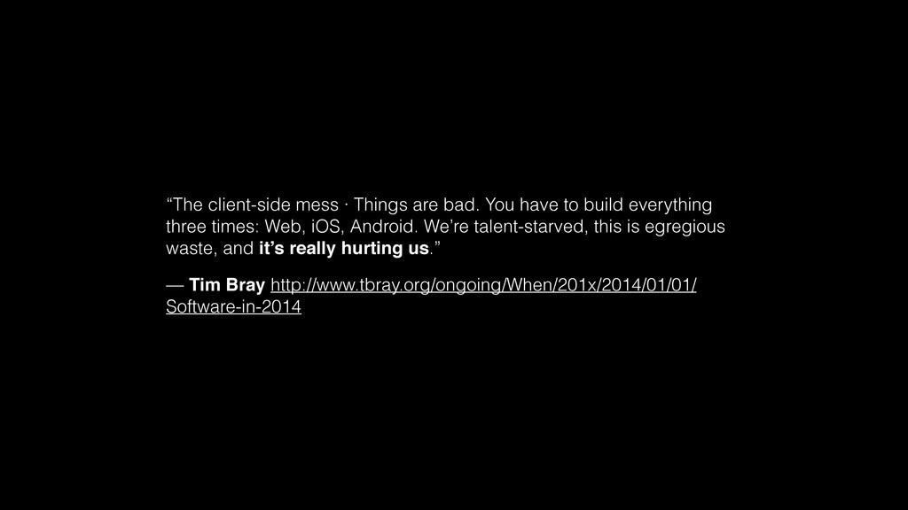 """The client-side mess · Things are bad. You hav..."