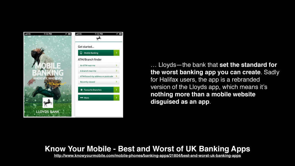 Know Your Mobile - Best and Worst of UK Banking...