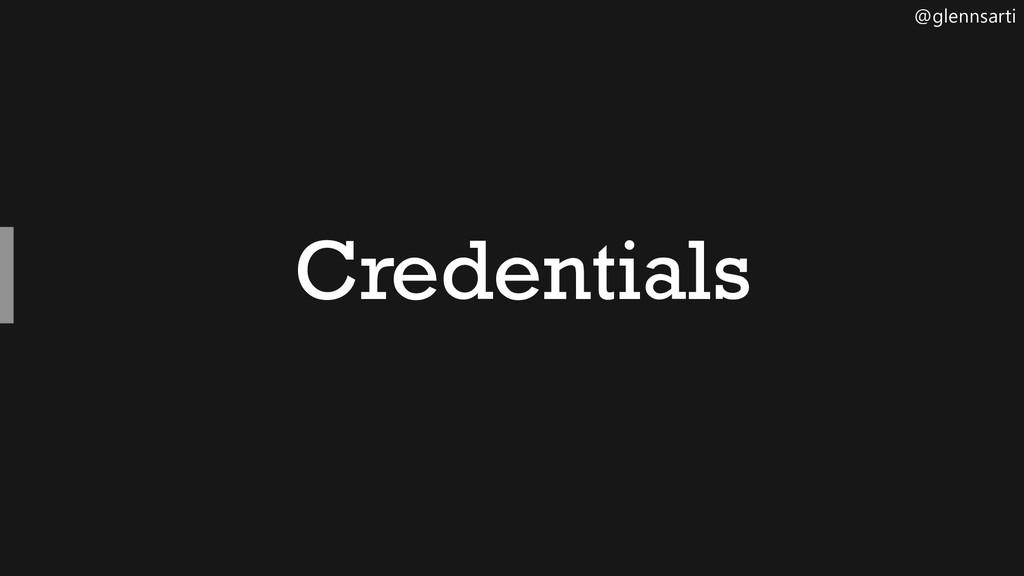 @glennsarti Credentials