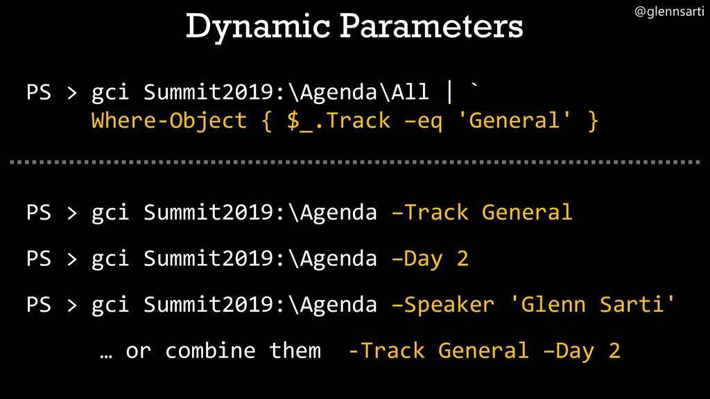 @glennsarti PS > gci Summit2019:\Agenda\All | `...