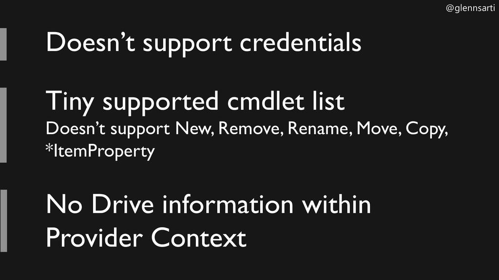 @glennsarti Doesn't support credentials Tiny su...