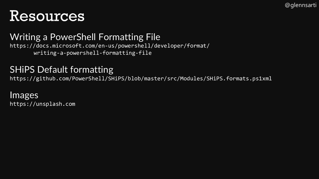 @glennsarti Resources Writing a PowerShell Form...