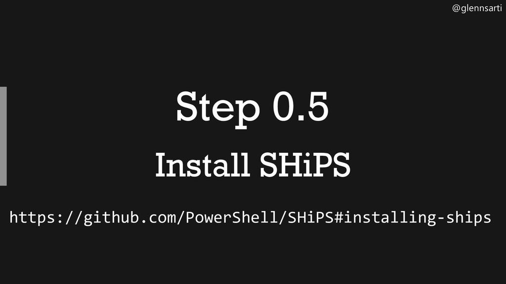 @glennsarti Step 0.5 Install SHiPS https://gith...