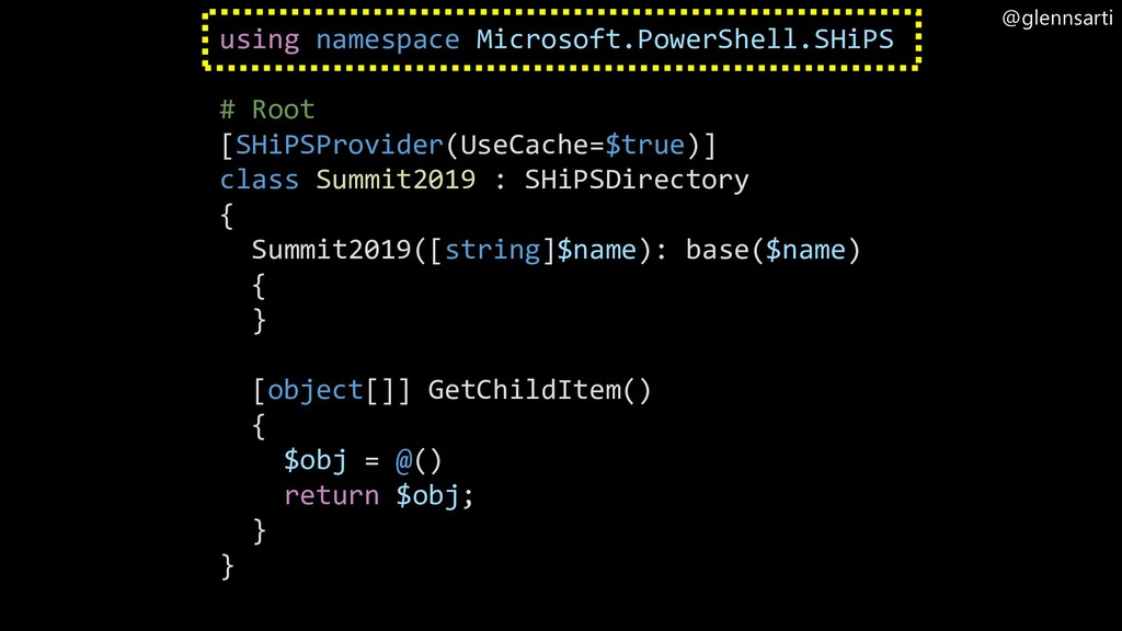 @glennsarti using namespace Microsoft.PowerShel...