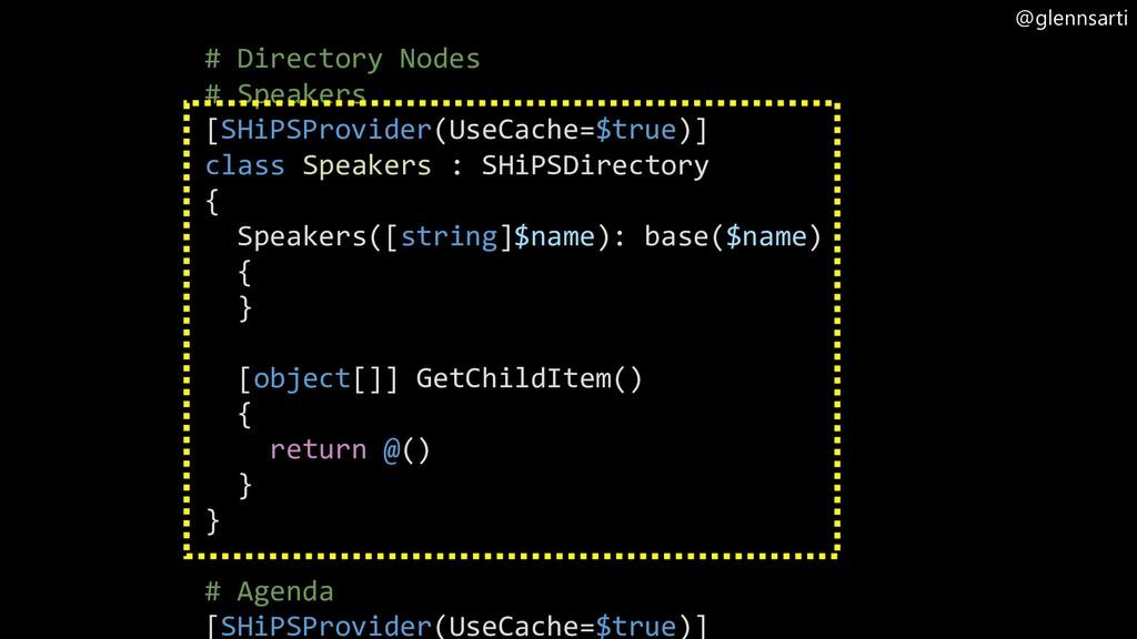 @glennsarti # Directory Nodes # Speakers [SHiPS...
