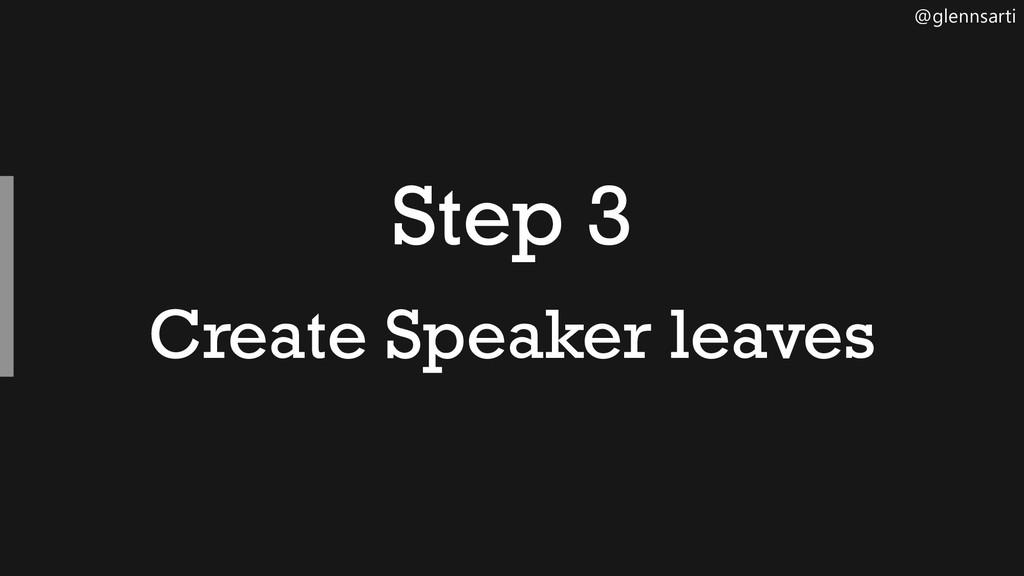 @glennsarti Step 3 Create Speaker leaves