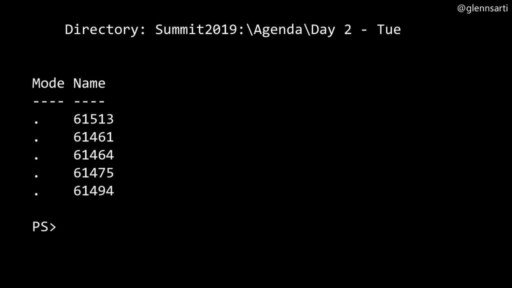 @glennsarti Directory: Summit2019:\Agenda\Day 2...