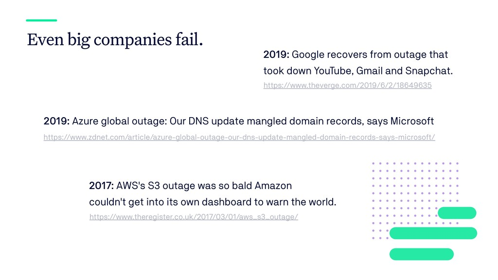 Even big companies fail. 2019: Google recovers ...