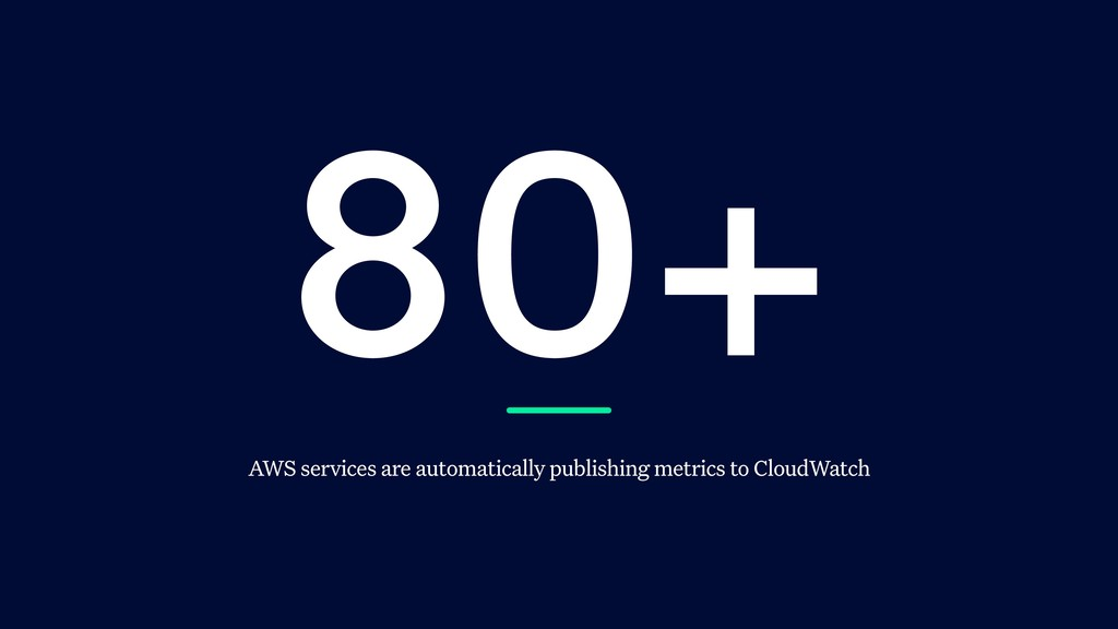 80+ AWS services are automatically publishing m...