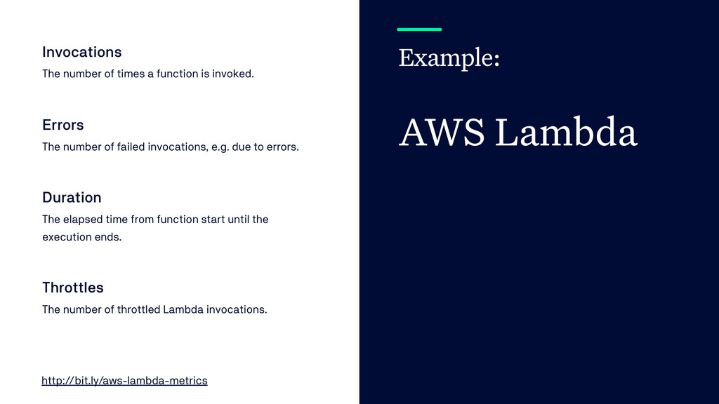 Example: AWS Lambda Invocations The number of t...