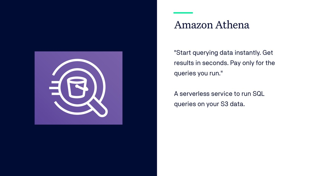 "Amazon Athena ""Start querying data instantly. G..."