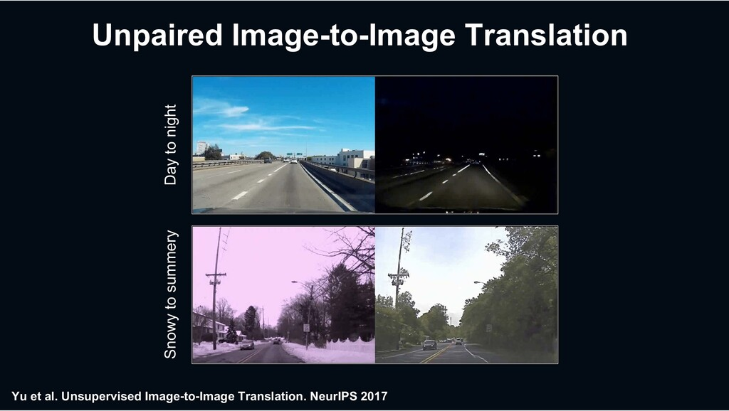Unpaired Image-to-Image Translation Yu et al...