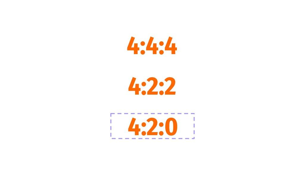 4:4:4 4:2:2 4:2:0